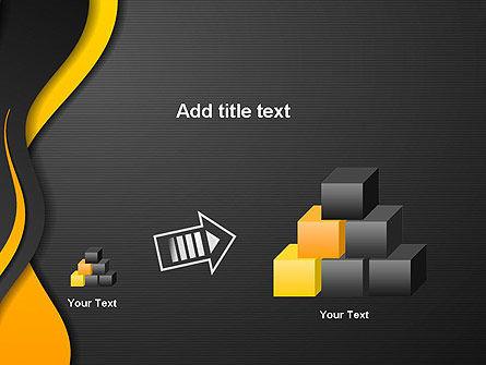 Orange Flowing Waves PowerPoint Template Slide 13