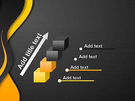 Orange Flowing Waves PowerPoint Template Slide 14