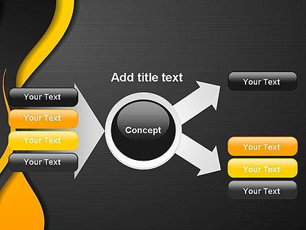 Orange Flowing Waves PowerPoint Template Slide 15