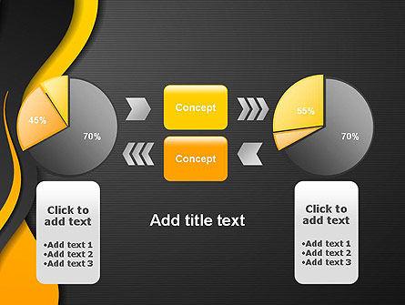 Orange Flowing Waves PowerPoint Template Slide 16