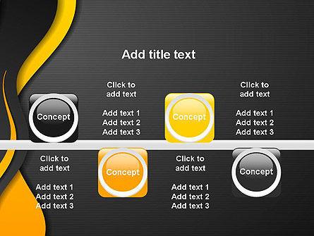 Orange Flowing Waves PowerPoint Template Slide 18