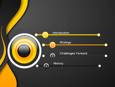 Orange Flowing Waves PowerPoint Template Slide 3