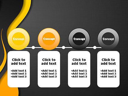Orange Flowing Waves PowerPoint Template Slide 5