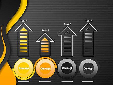 Orange Flowing Waves PowerPoint Template Slide 7