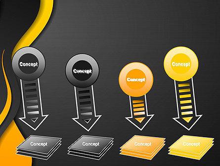Orange Flowing Waves PowerPoint Template Slide 8