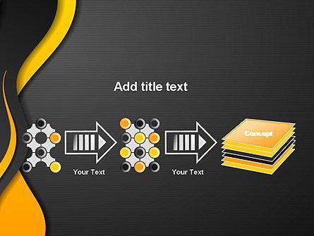 Orange Flowing Waves PowerPoint Template Slide 9