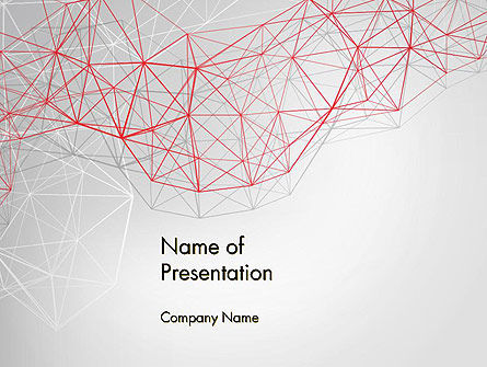 Abstract/Textures: 3D Wireframe Abstract PowerPoint Template #14062