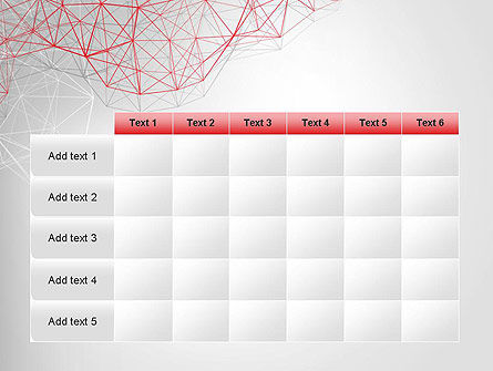 3D Wireframe Abstract PowerPoint Template Slide 15