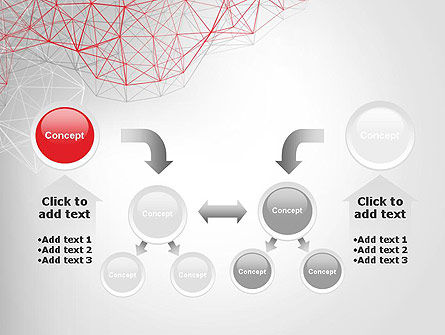 3D Wireframe Abstract PowerPoint Template Slide 19
