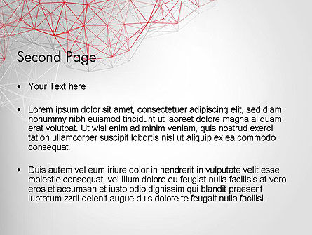 3D Wireframe Abstract PowerPoint Template Slide 2