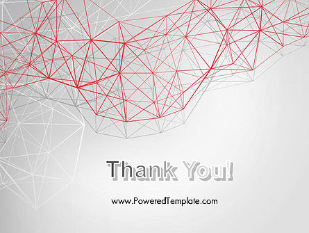 3D Wireframe Abstract PowerPoint Template Slide 20