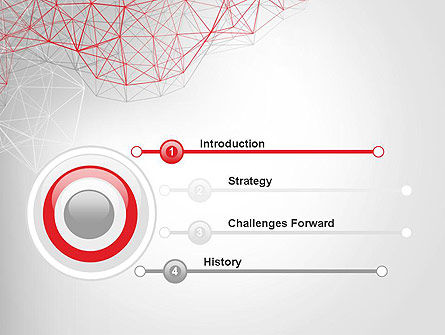 3D Wireframe Abstract PowerPoint Template Slide 3