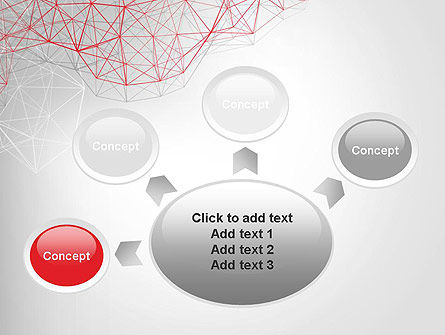 3D Wireframe Abstract PowerPoint Template Slide 7