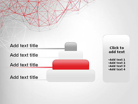 3D Wireframe Abstract PowerPoint Template Slide 8