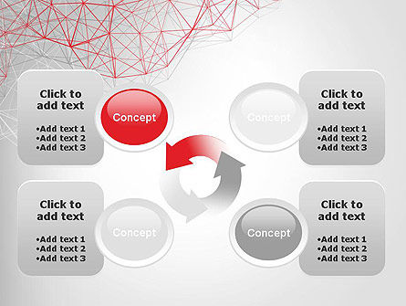 3D Wireframe Abstract PowerPoint Template Slide 9
