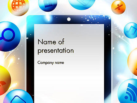 Conceptual Social Networking PowerPoint Template, 14064, Careers/Industry — PoweredTemplate.com