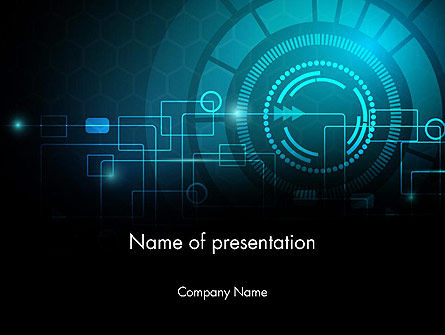 Futuristic Flowchart Abstract Powerpoint Template, Backgrounds