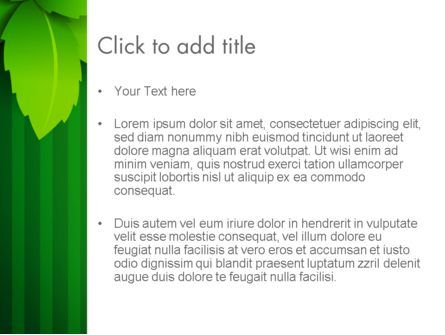 Green Leaf Theme PowerPoint Template, Slide 3, 14069, Nature & Environment — PoweredTemplate.com