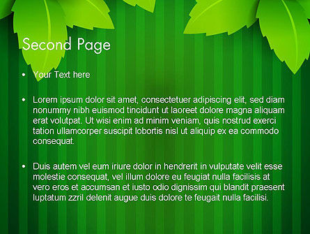 Green Leaf Theme PowerPoint Template, Slide 2, 14069, Nature & Environment — PoweredTemplate.com
