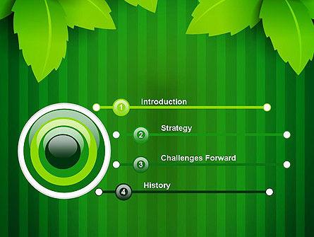 Green Leaf Theme PowerPoint Template, Slide 3, 14069, Nature & Environment — PoweredTemplate.com