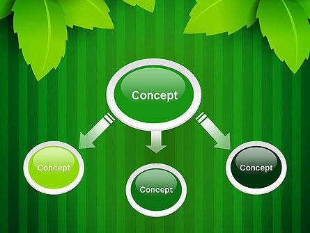 Green Leaf Theme PowerPoint Template, Slide 4, 14069, Nature & Environment — PoweredTemplate.com