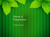 Nature & Environment: Grünes blatt thema PowerPoint Vorlage #14069