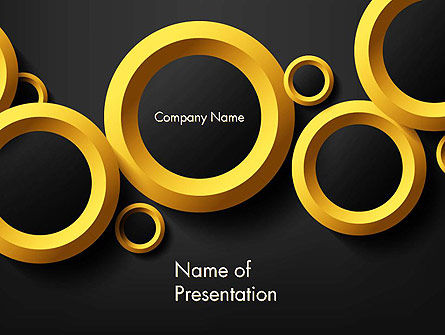 Abstract/Textures: Orange Circles Abstract PowerPoint Template #14070