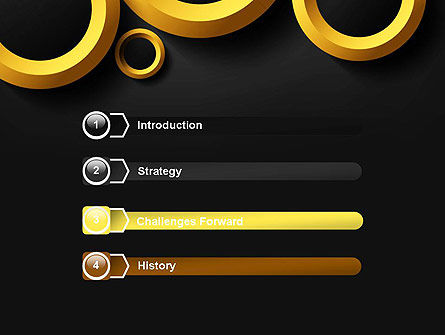 Orange Circles Abstract PowerPoint Template Slide 3