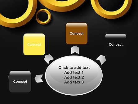 Orange Circles Abstract PowerPoint Template Slide 7