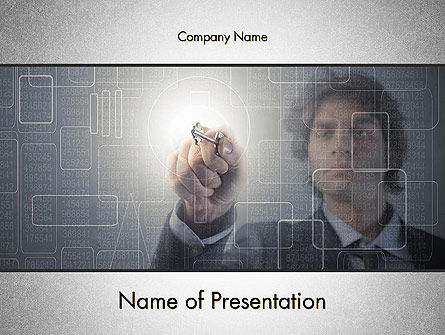 Limited Access PowerPoint Template, 14071, Technology and Science — PoweredTemplate.com