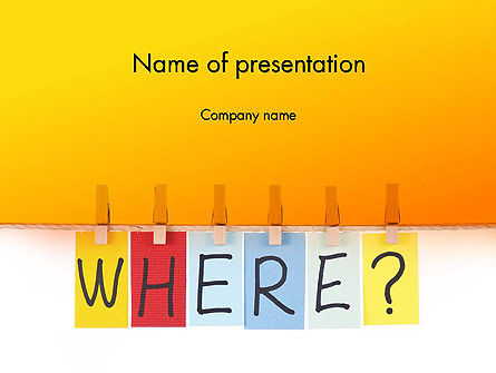 One Key Question PowerPoint Template, 14072, Education & Training — PoweredTemplate.com