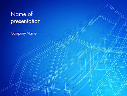 Abstract/Textures: Plantilla de PowerPoint - objeto wireframe #14075