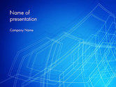 Abstract/Textures: Draadframe Object PowerPoint Template #14075