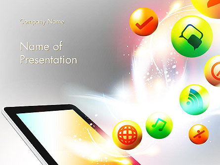 Careers/Industry: Mobile Application Design PowerPoint Template #14076