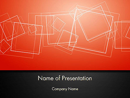 Abstract/Textures: Thin Squares Background PowerPoint Template #14077