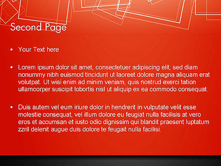 Thin Squares Background PowerPoint Template Slide 2