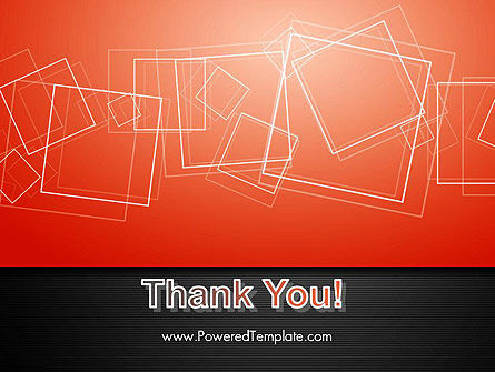 Thin Squares Background PowerPoint Template Slide 20