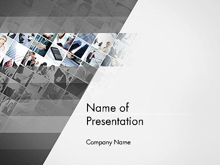 Tilted Photo Collage PowerPoint Template, 14080, Careers/Industry — PoweredTemplate.com