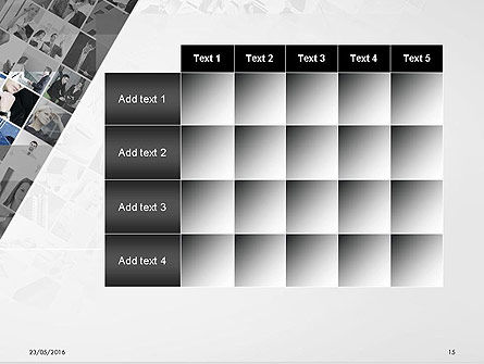 Tilted Photo Collage PowerPoint Template Slide 15