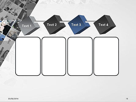 Tilted Photo Collage PowerPoint Template Slide 18