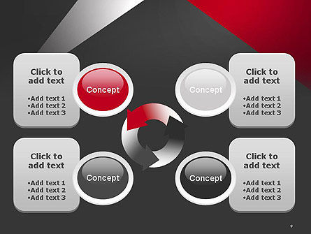 Abstract Cut Out PowerPoint Template Slide 9