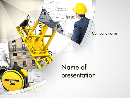 Construction: Reliable Architect PowerPoint Template #14083