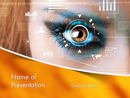 Technology and Science: Eye Tracking PowerPoint Template #14085