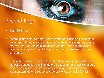 Eye Tracking PowerPoint Template, Slide 2, 14085, Technology and Science — PoweredTemplate.com