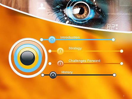 Eye Tracking PowerPoint Template, Slide 3, 14085, Technology and Science — PoweredTemplate.com