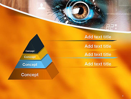 Eye Tracking PowerPoint Template, Slide 4, 14085, Technology and Science — PoweredTemplate.com