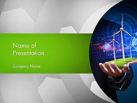Technology and Science: Renewable Energy Technology PowerPoint Template #14086