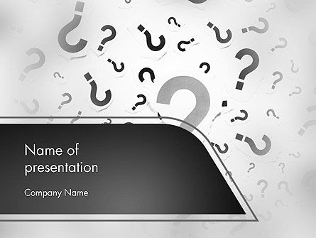 Million Questions PowerPoint Template, 14089, Education & Training — PoweredTemplate.com