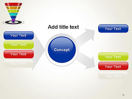 Conversion Funnel PowerPoint Template Slide 14