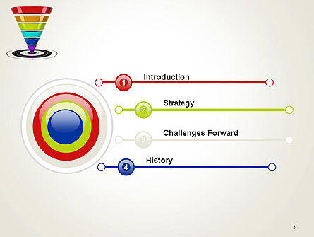 Conversion Funnel PowerPoint Template Slide 3